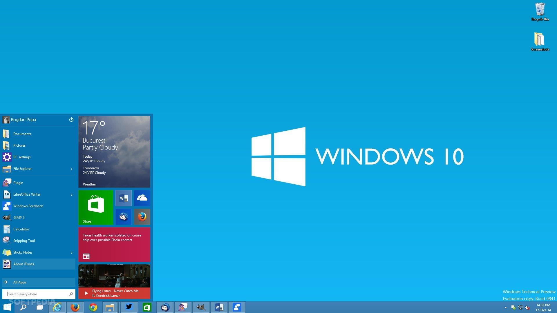 Windows 10 Preview 10 Usability Screenshots win10themesnet 1920x1080