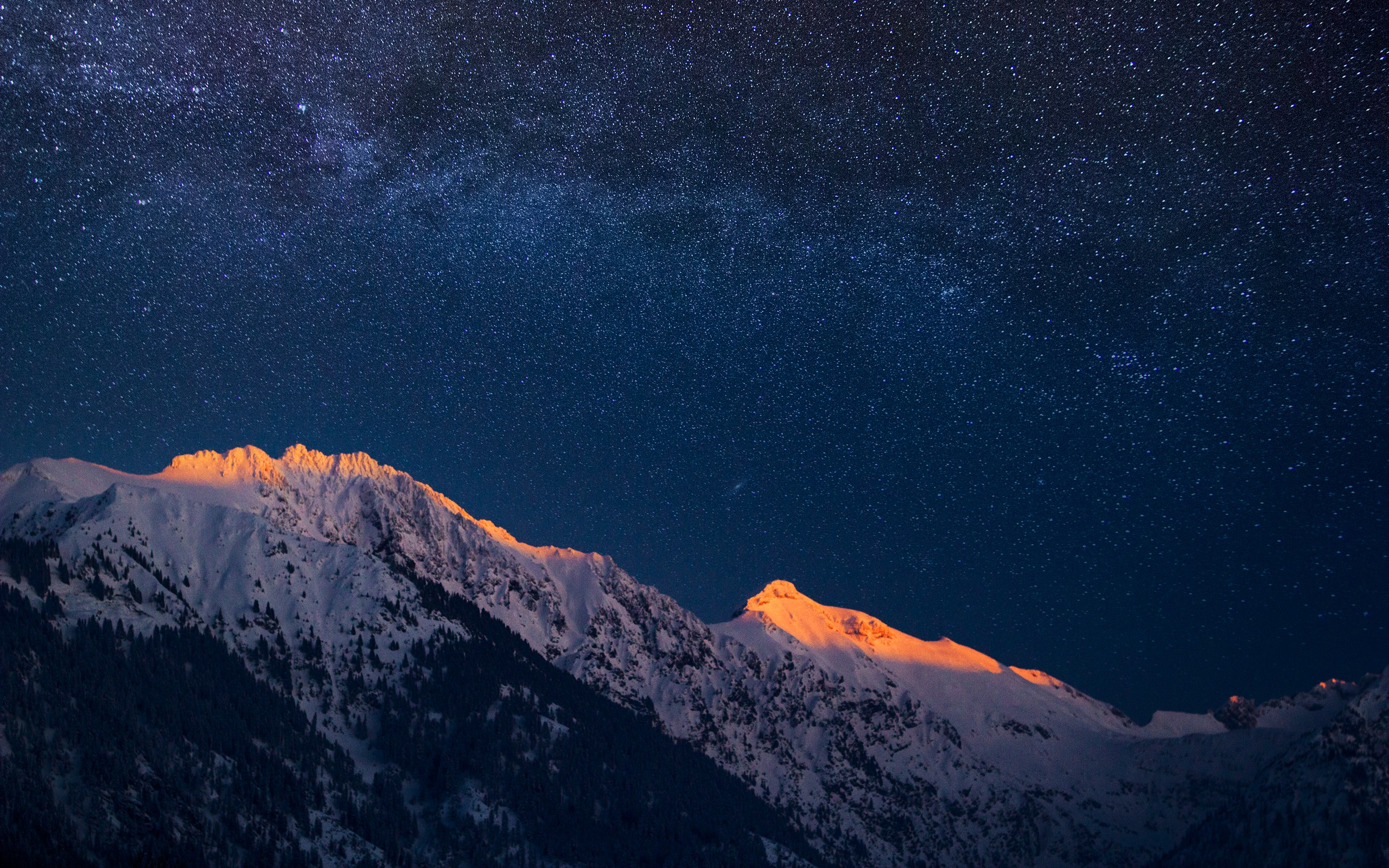 Mountains and a Night Sky HD Wallpaper Download HD Wallpapers 2560x1600