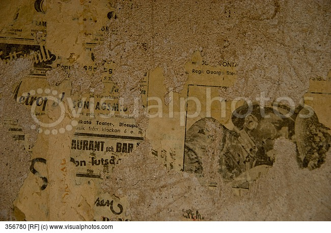 Old Newspaper Found On A Wall In An Old House Under The Wallpaper 650x457
