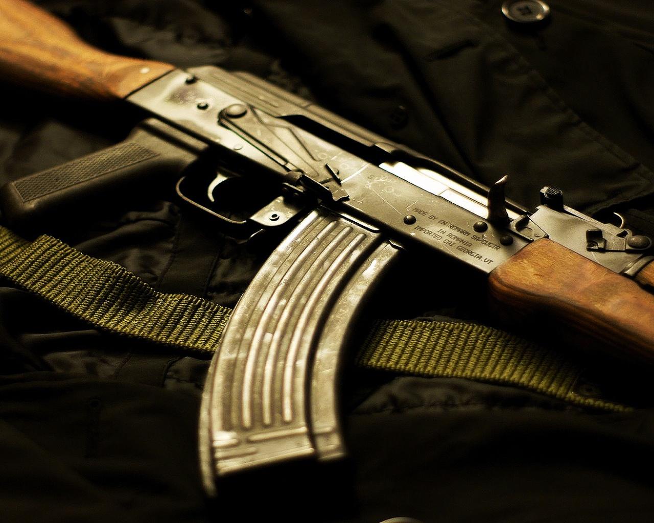 Previous Creative Wallpaper   Kalashnikov AK 47 wallpaper 1280x1024