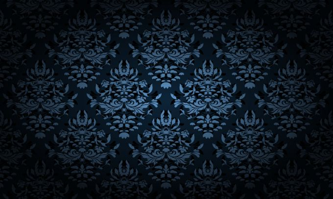 Blue Damask Background Vector 680x406