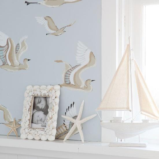 Seaside inspired living room wallpaper Living room wallpapers 550x550