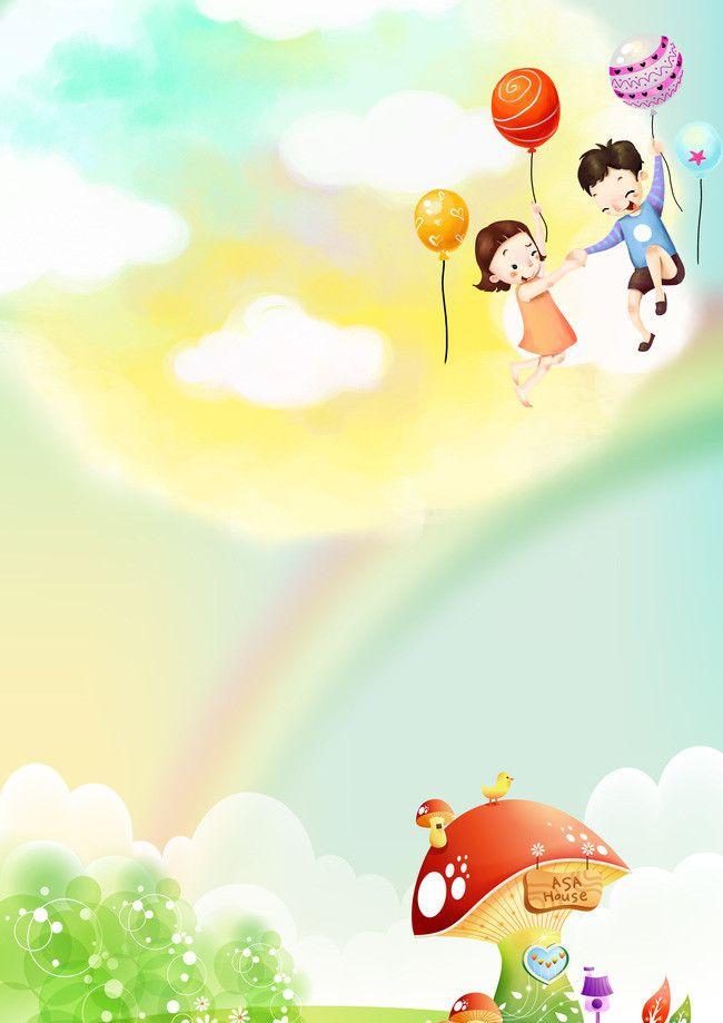 Kindergarten Children Cartoon Pictures Background Material Pdf 650x919