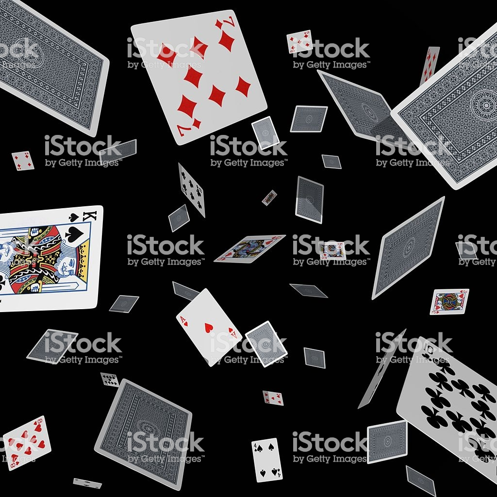 Tumbling Cards On Black Stock Photo More Pictures of 2000 2009 1024x1024