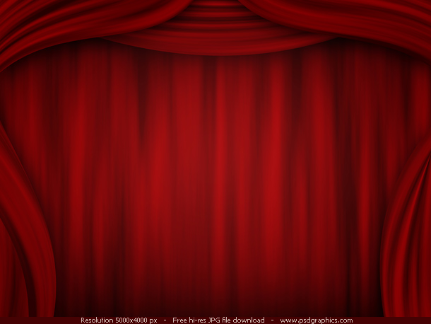 Red curtain backgrounds theatre stage illustration in a dark color 610x458