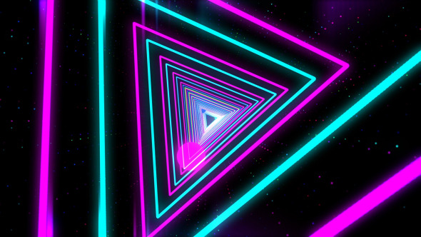 VideoHive Colorful Neon Light Tunnel 7413215 Hyperlinocom 590x332