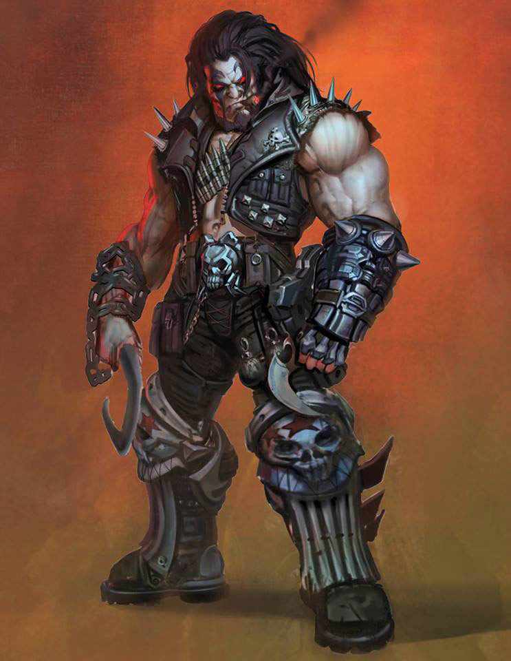 Lobo concept art in injustice Gods Among Us 743x960