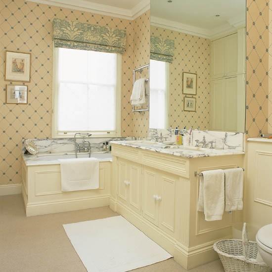 geometric wallpaper Bathroom wallpaper feature walls bathroom 550x550
