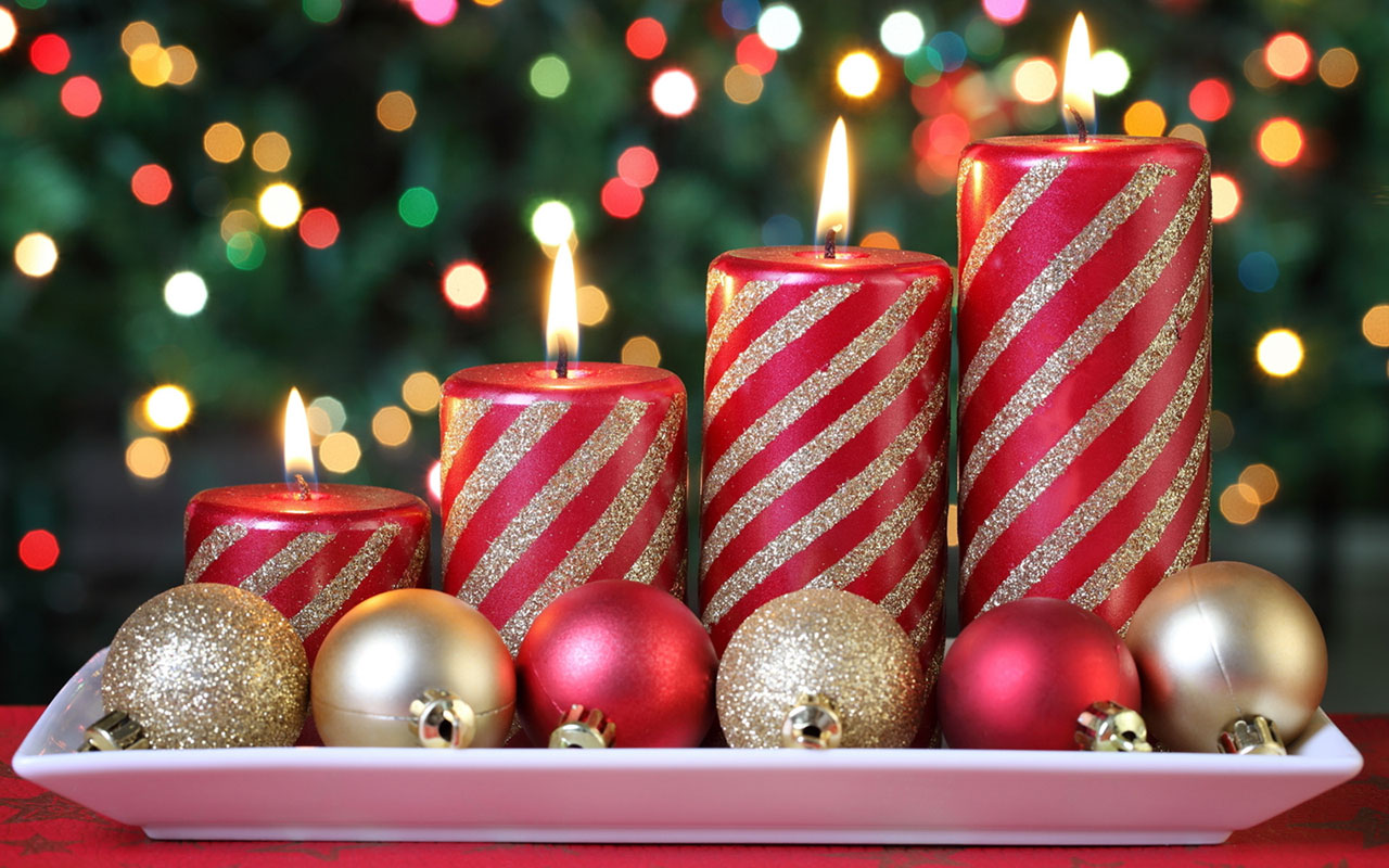 Christmas candles HD wallpaper 15 Holiday Wallpapers 1280x800