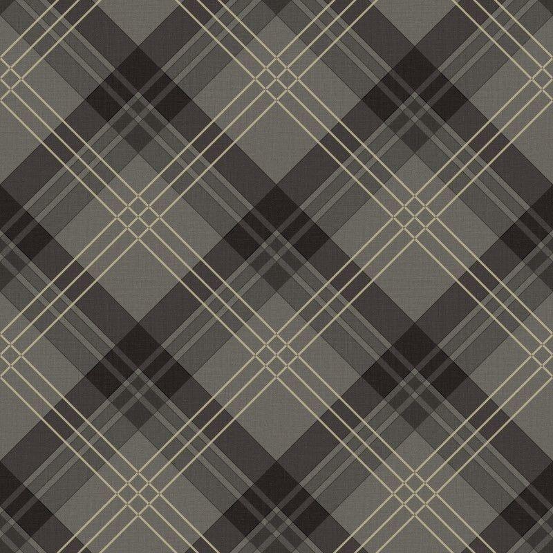 Fairburn Black Grey Tartan Wallpaper by Arthouse Vintage 252700 eBay 800x800