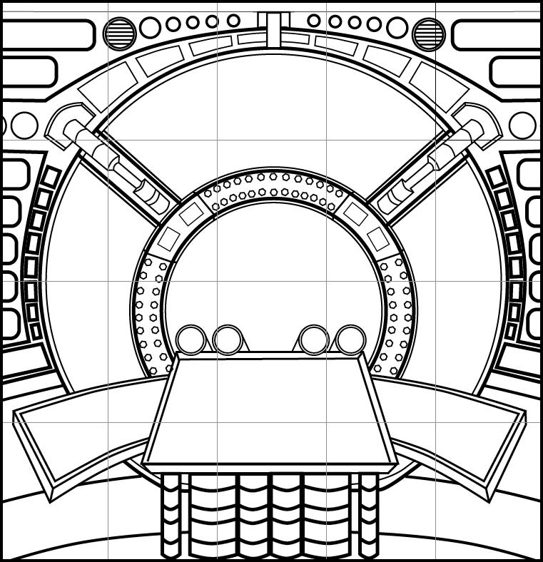 spaceship control panel wallpaper