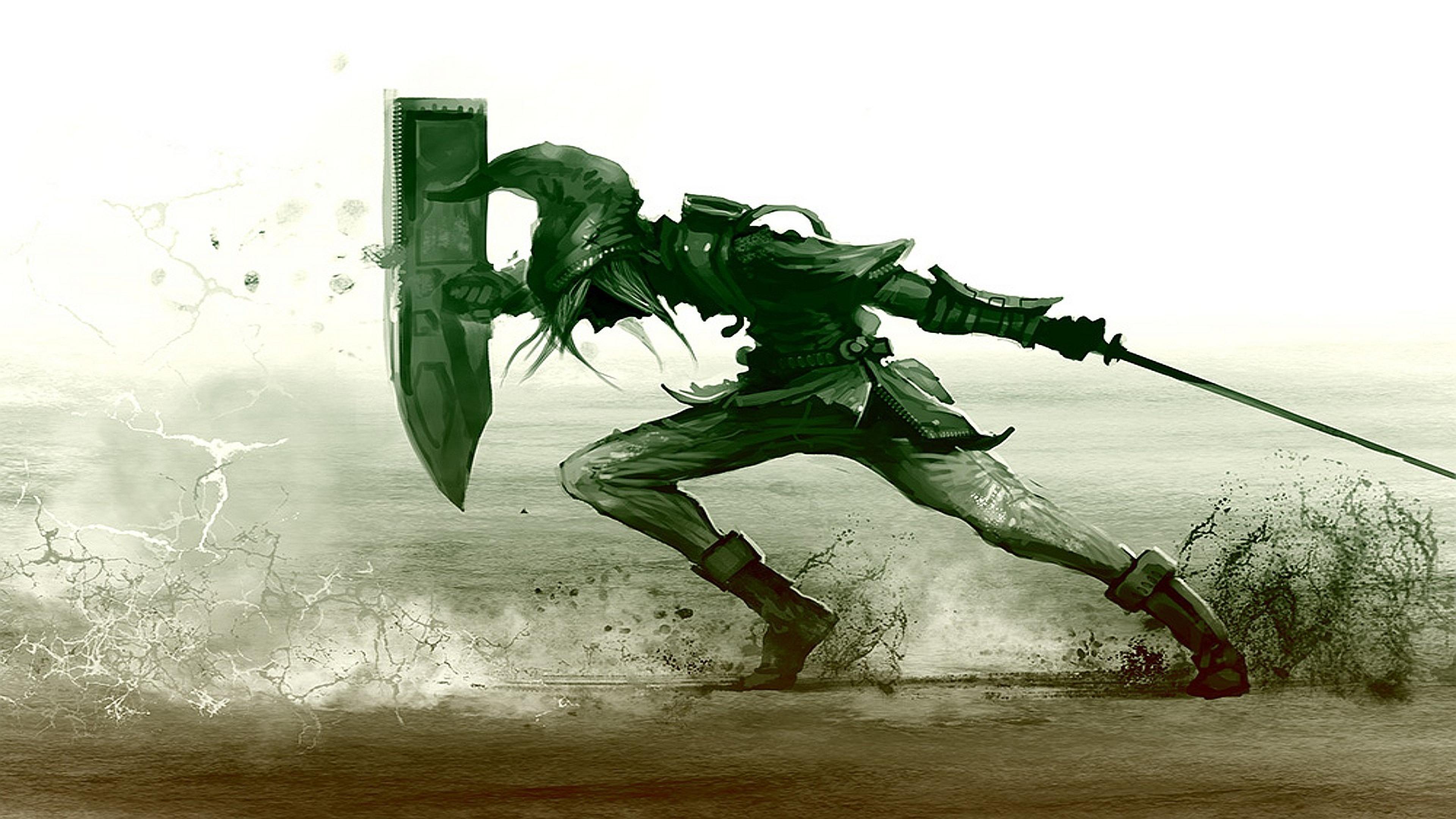 Wallpaper 3840x2160 The legend of zelda Shield Sword Sand Link 4K 3840x2160