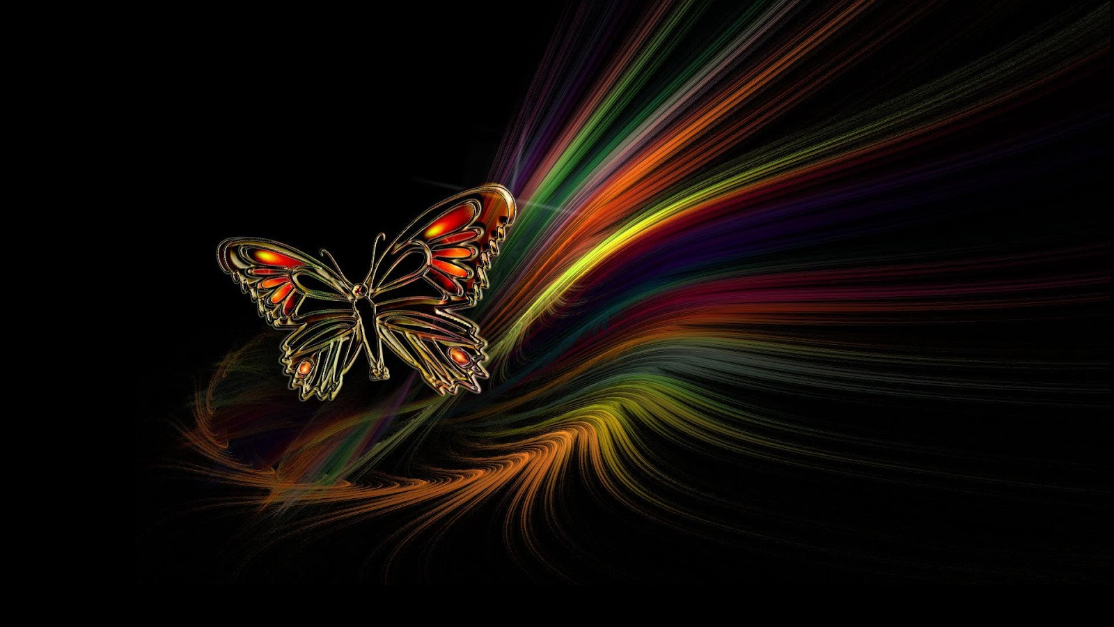 beautiful abstract desktop backgrounds 6 HD Wallpaper 3D Abstract 1600x900