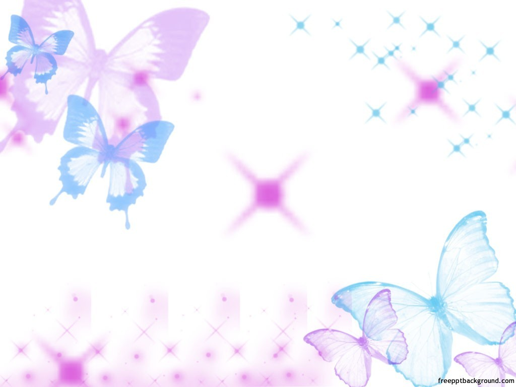 Purple Background with Butterflies PPT Backgrounds 1024x768