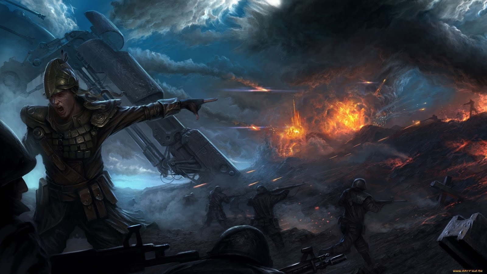 Cool War Backgrounds Battlefield war explosion army 1600x900