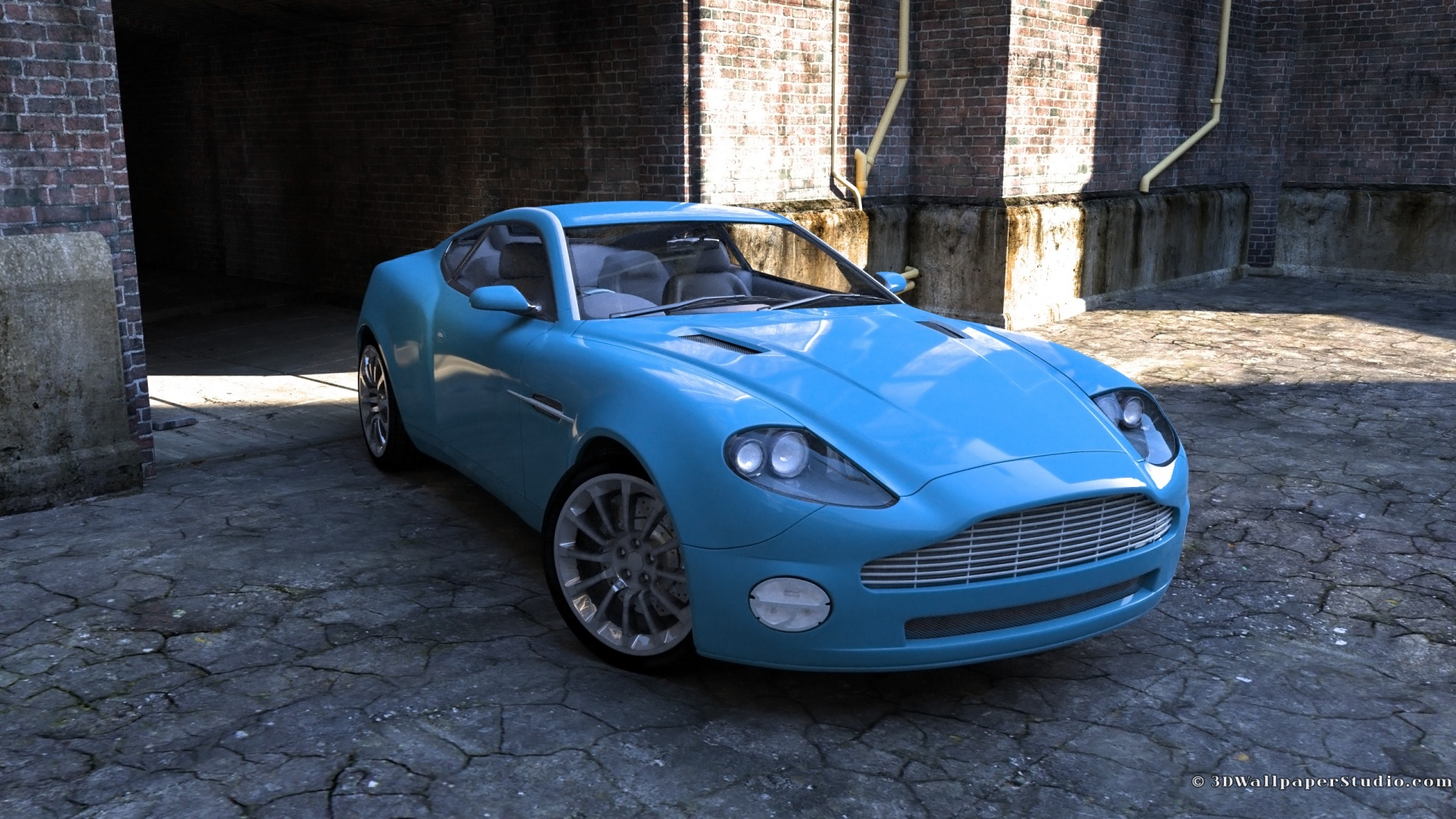 Blue super car wallpaper in 1920x1080 screen resolution 1920x1080