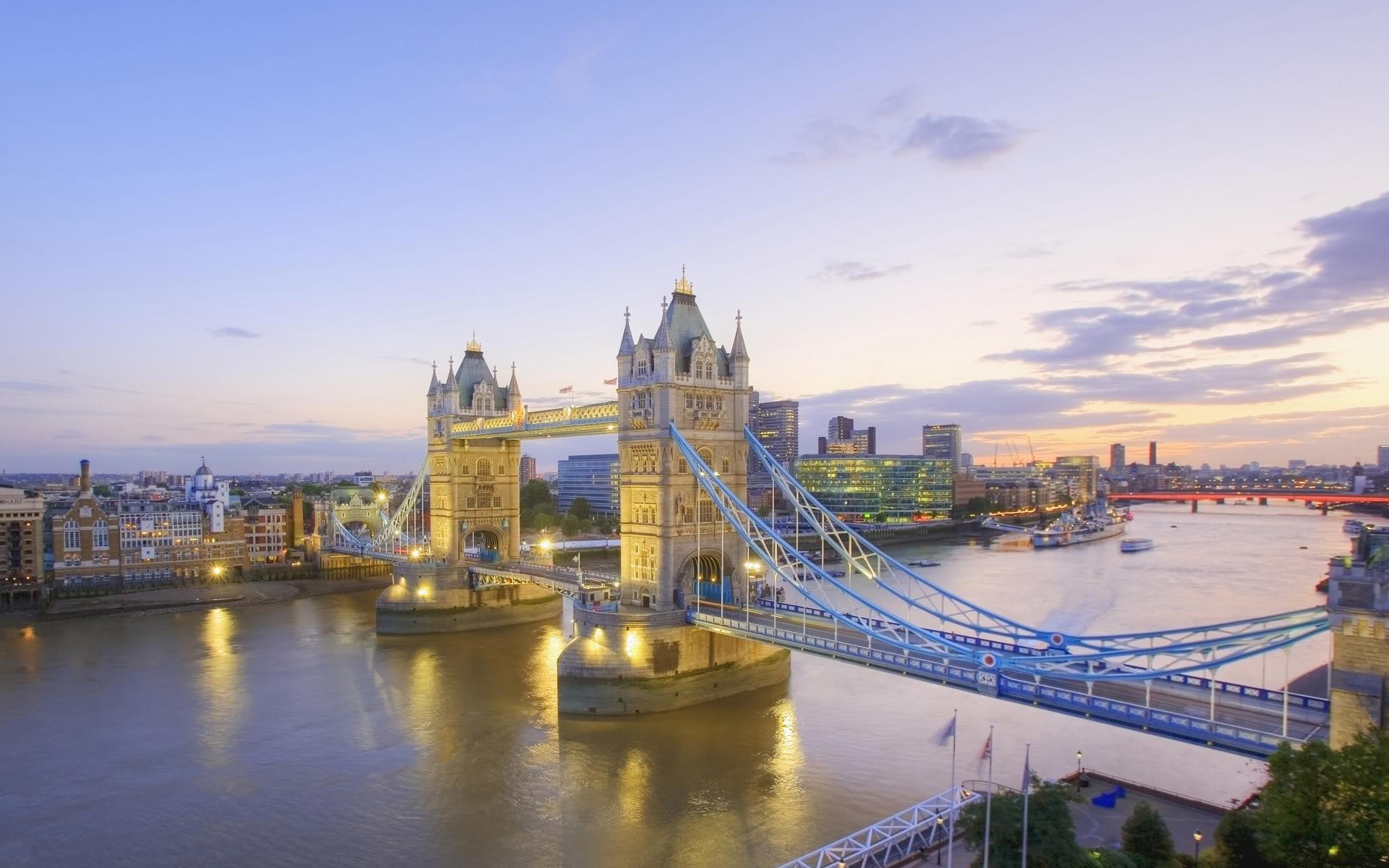 bridge, screen, london, england, savers, tower, thames, river ...