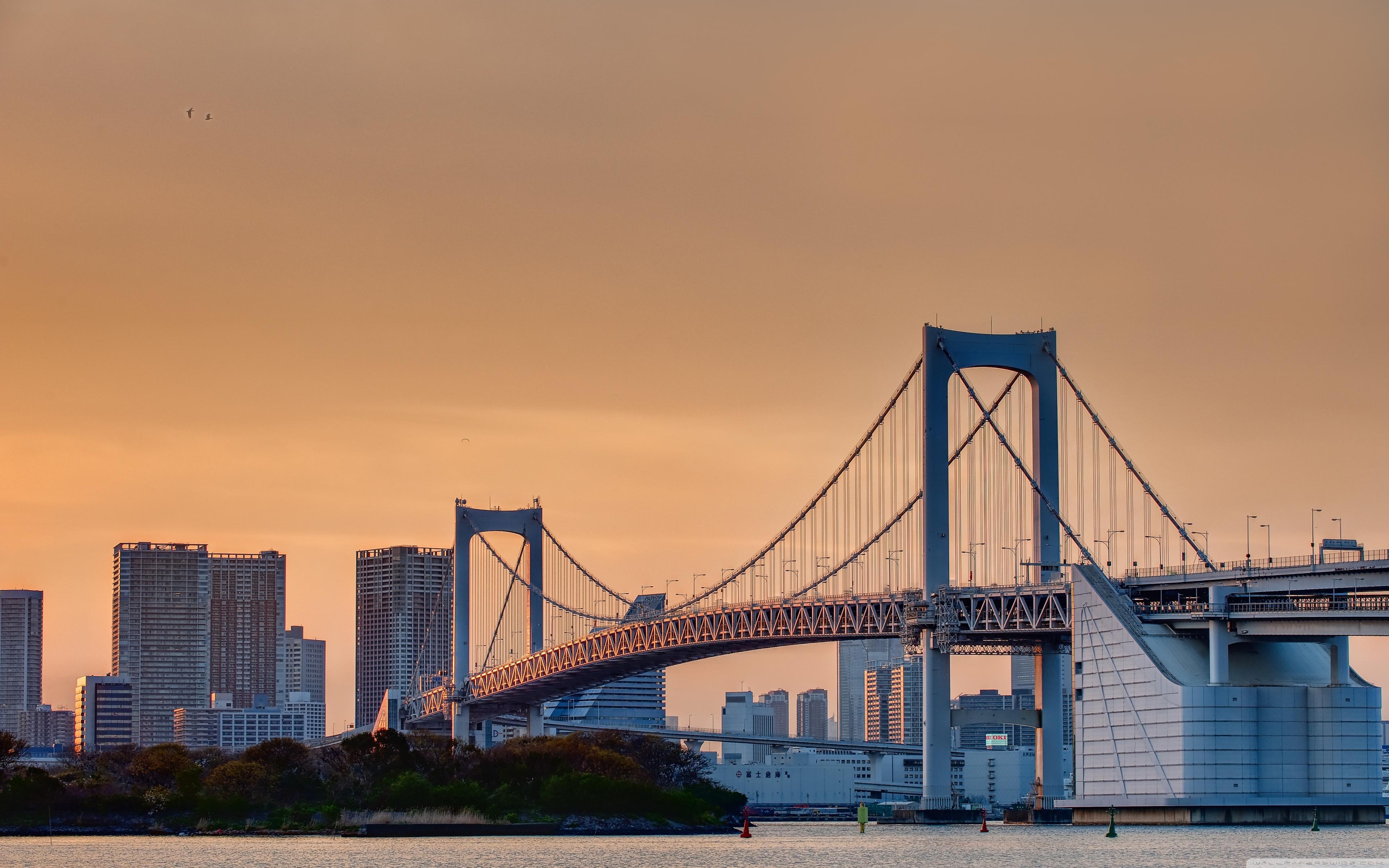 Odaiba Rainbow Bridge 4K HD Desktop Wallpaper for 4K Ultra HD 3840x2400