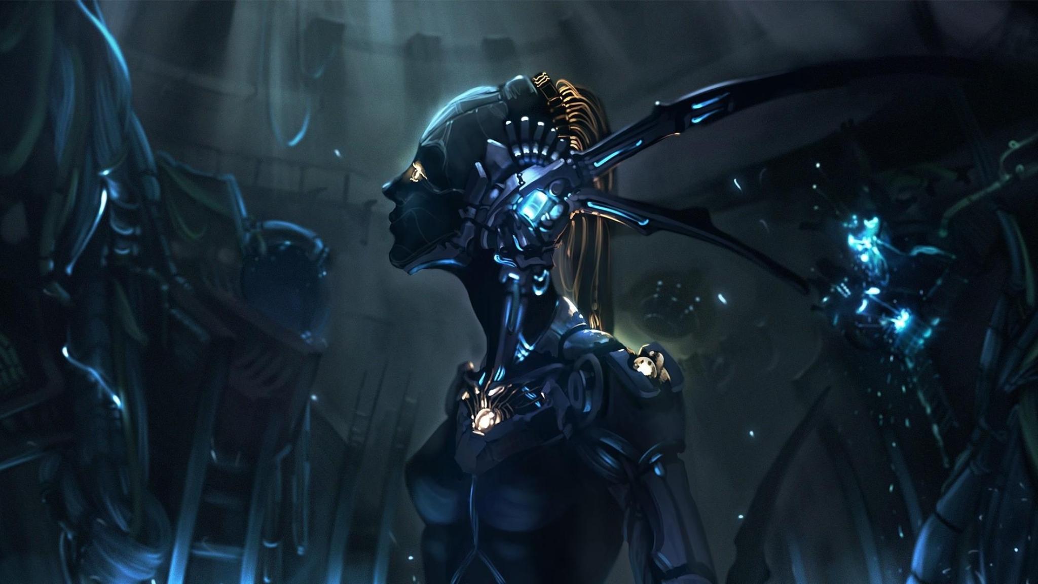 2048x1152 robot cyborg mechanism 2048x1152 Resolution Wallpaper 2048x1152