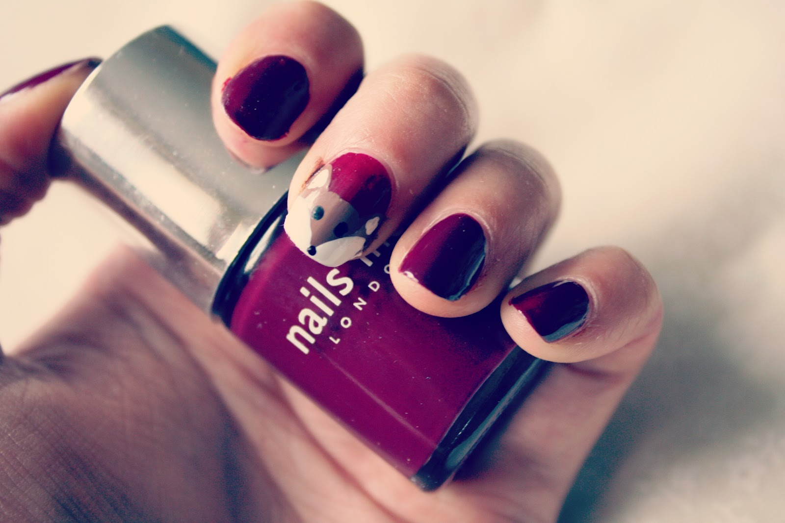 How to fox nail art tutorial step by step easy blog post 1600x1067