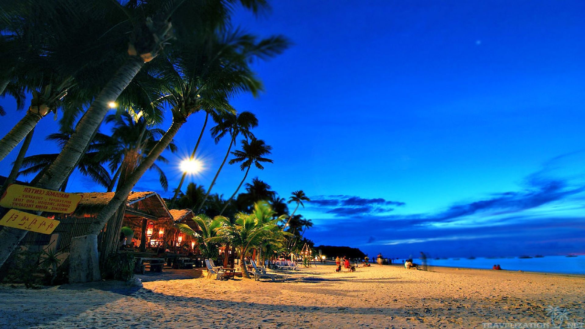 Beach At Night Wallpaper Beach At Night Wallpapers for PC 1920x1080