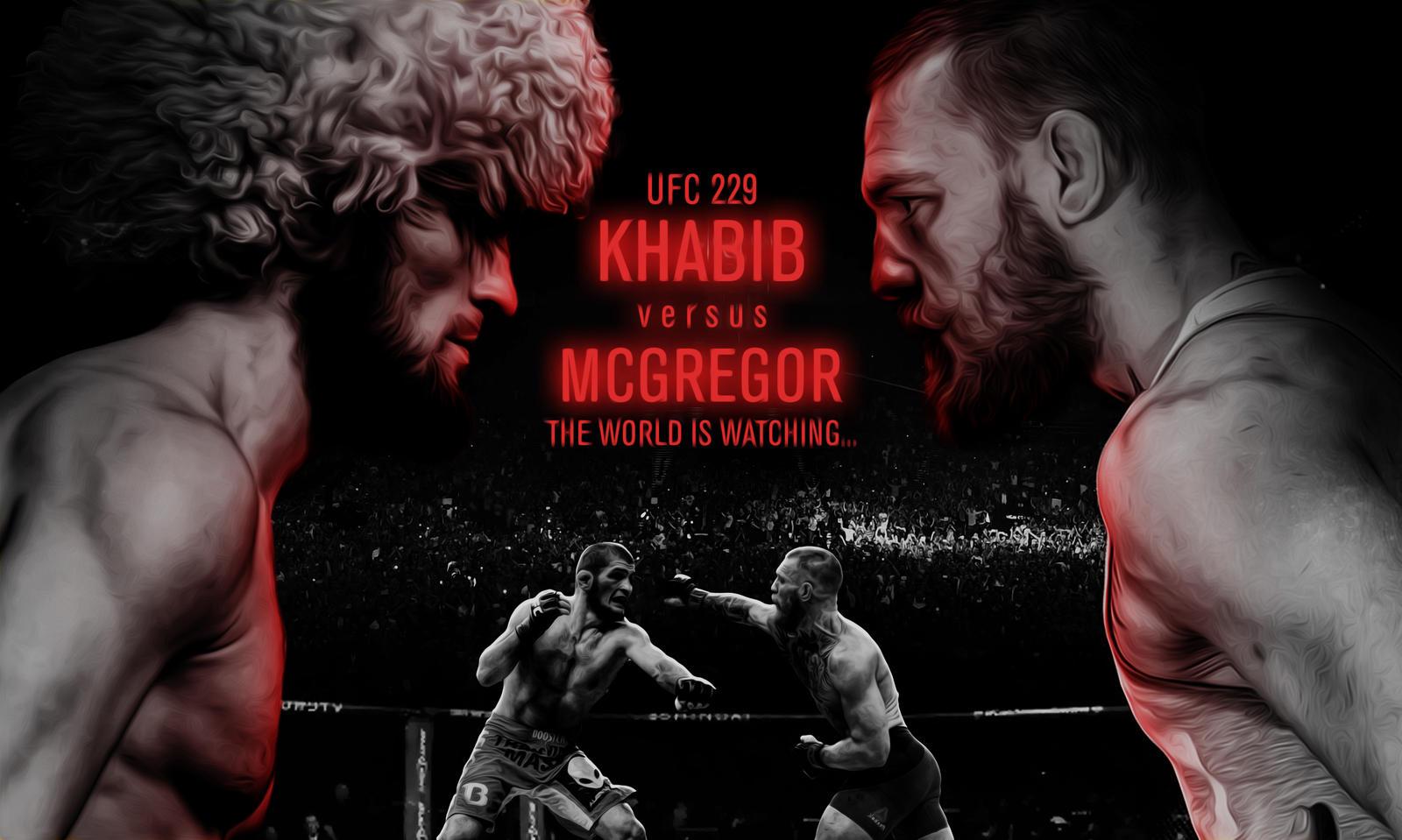 Khabib vs Mcgregor UFC 229 Wallpaper by ZeroPlus123 1600x959