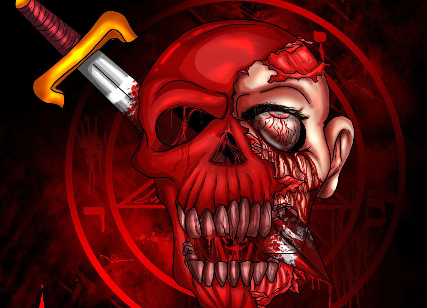 Dark   Occult Weapon Skull Satan Satanism Satanic Skulls Wallpaper 1460x1053