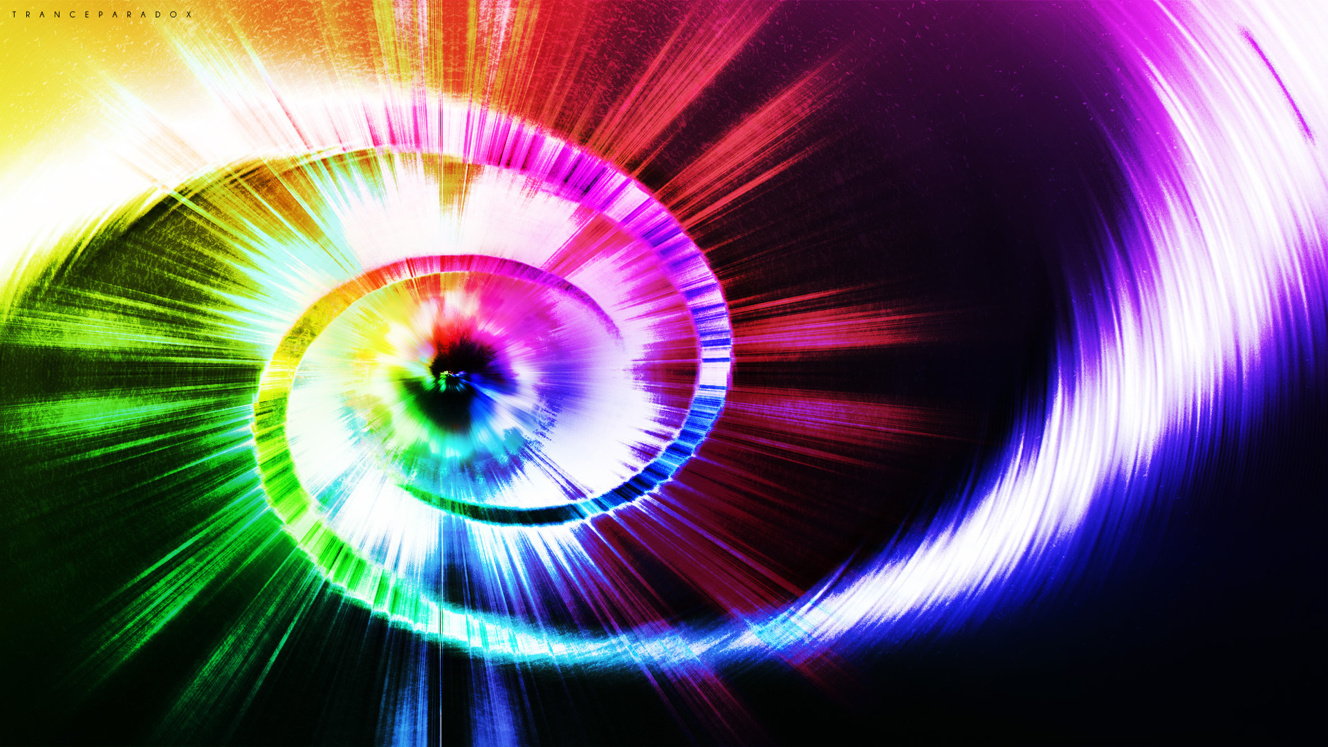 ed64027d5828 Spiral and multi colored rays wallpapers and images 1920x1080