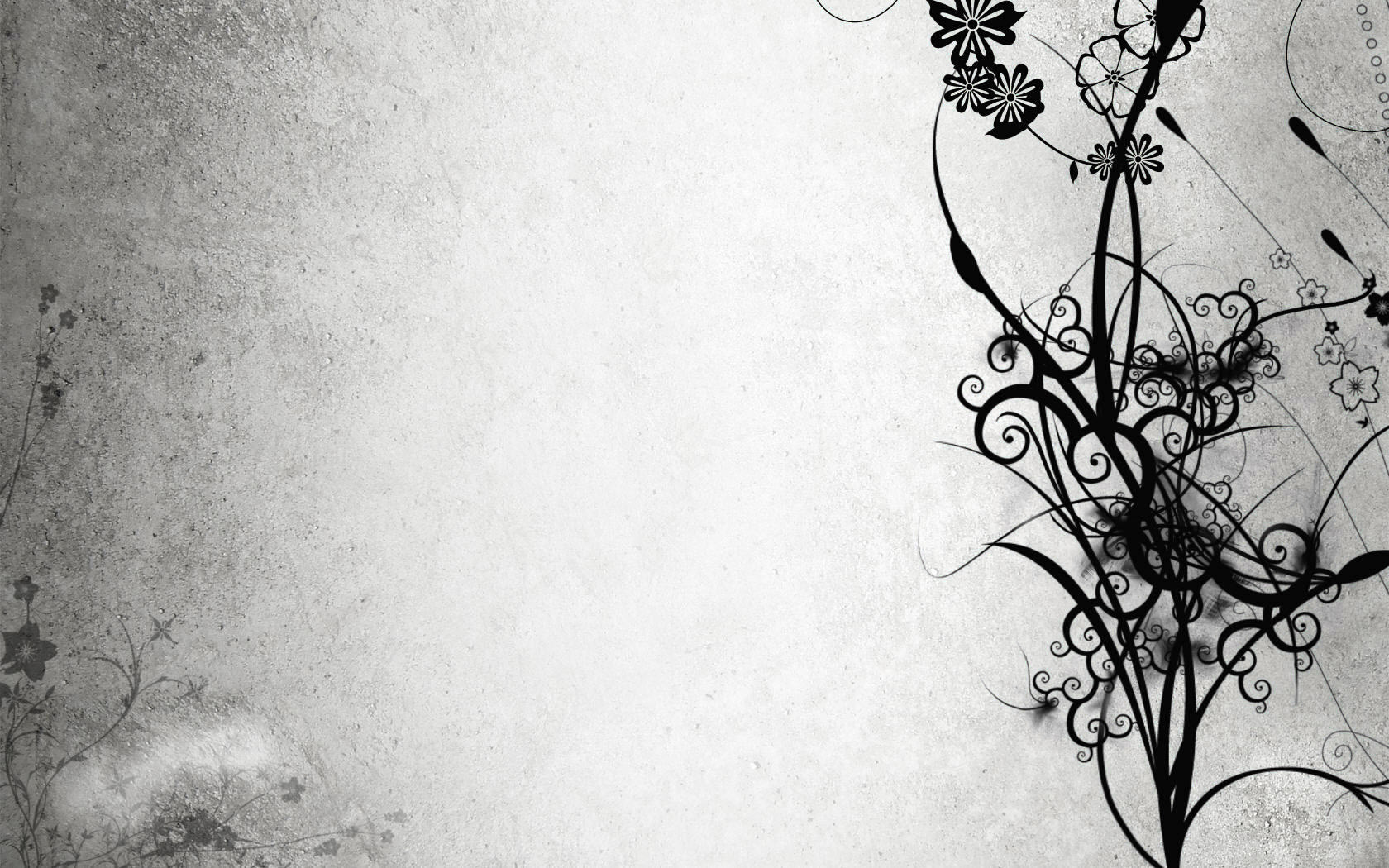 Abstract Black and White Flowers - Free Wallpapers - #162