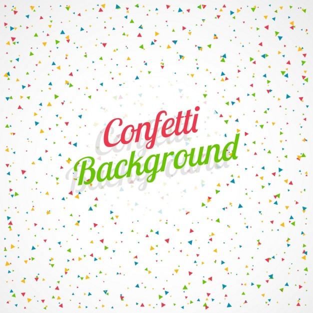Celebration background with colorful confetti Vector 626x626