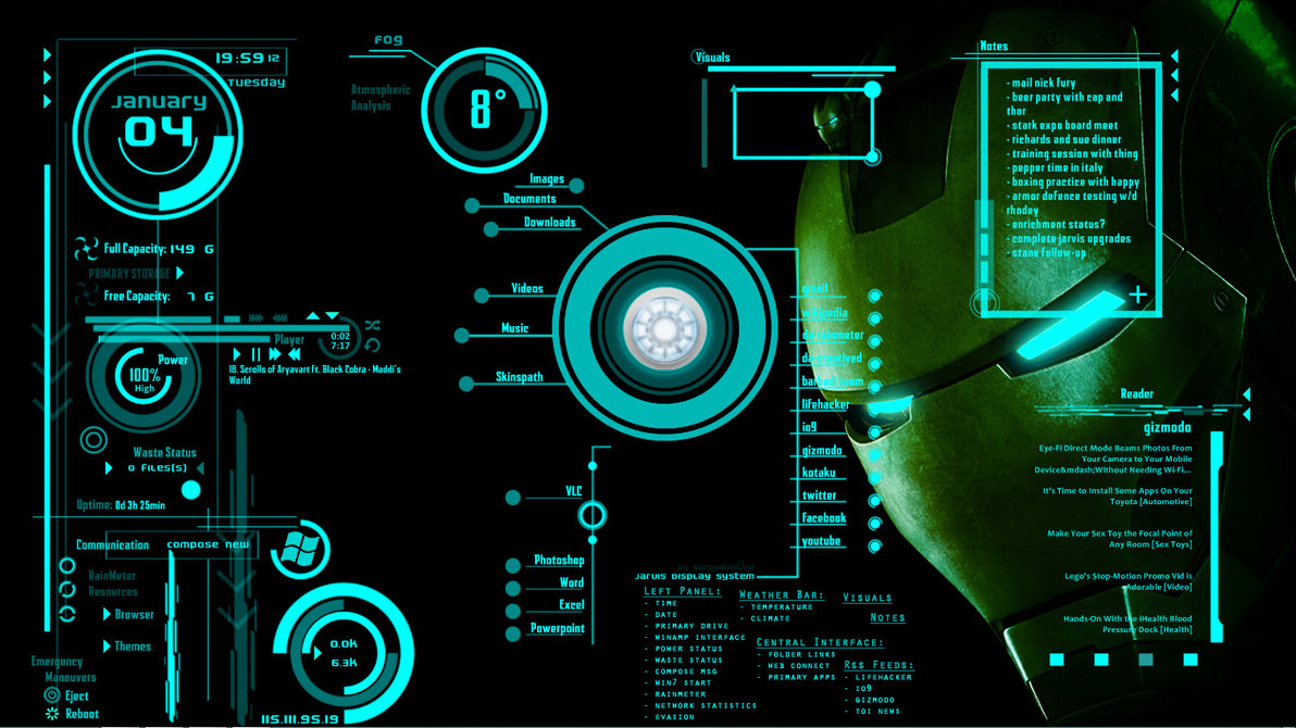 jarvis live wallpaper for pc wallpapersafari