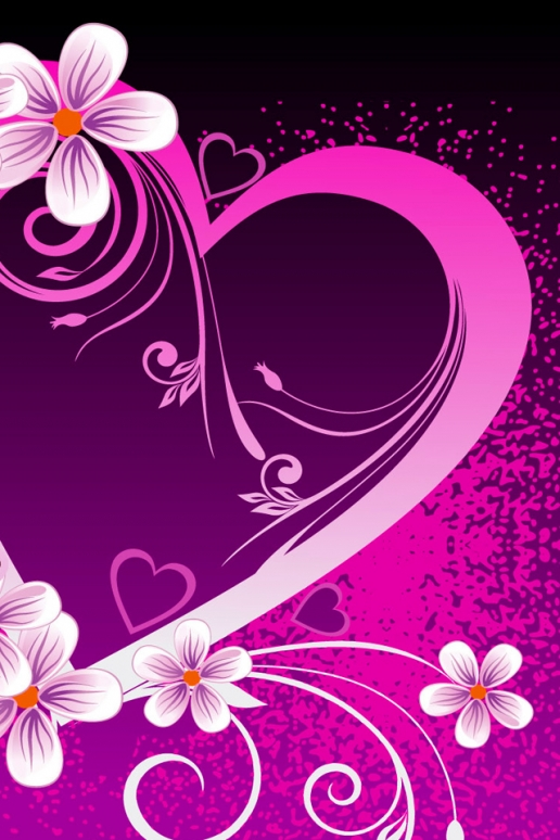 wallpapers purple hearts pink - photo #45