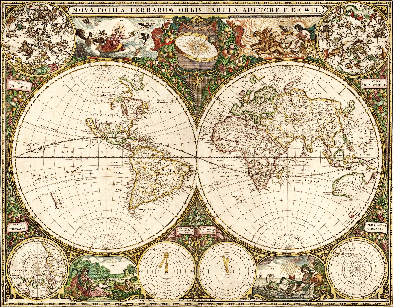 Old World Map Wallpaper httpwwwpic2flycomOldWorldMapWallpaper 3000x2339