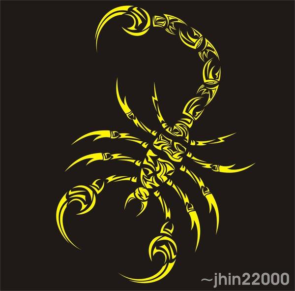 tribal scorpion 0508 by jhin22000 600x591