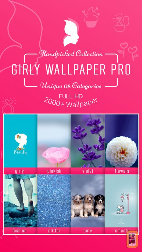 Girly Wallpapers Pro for iPhone iPad   App Info Stats 480x852
