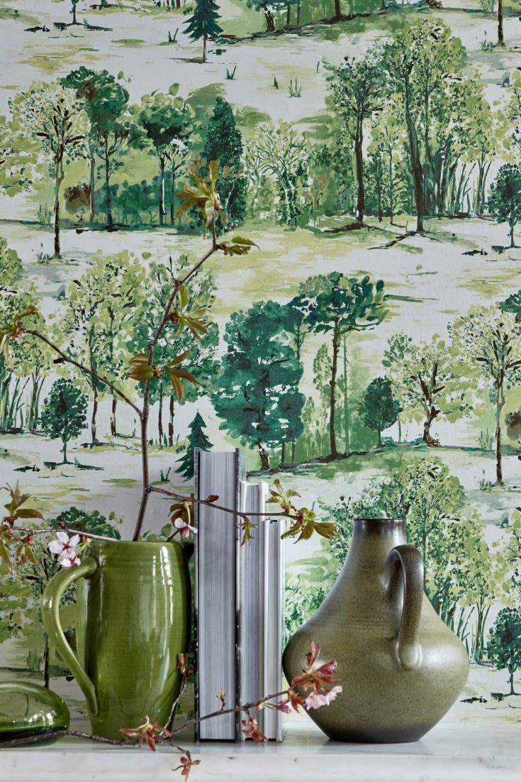 Roscoe by Albany   Forest Green   98561 Walls Wallpaper 735x1102