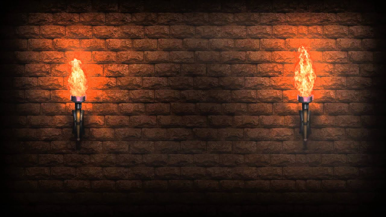 Video Background Full HD Torches Of The Knight 1280x720