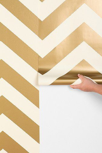 gold chevron wallpaper temporary so you can remove and reapply if 338x507