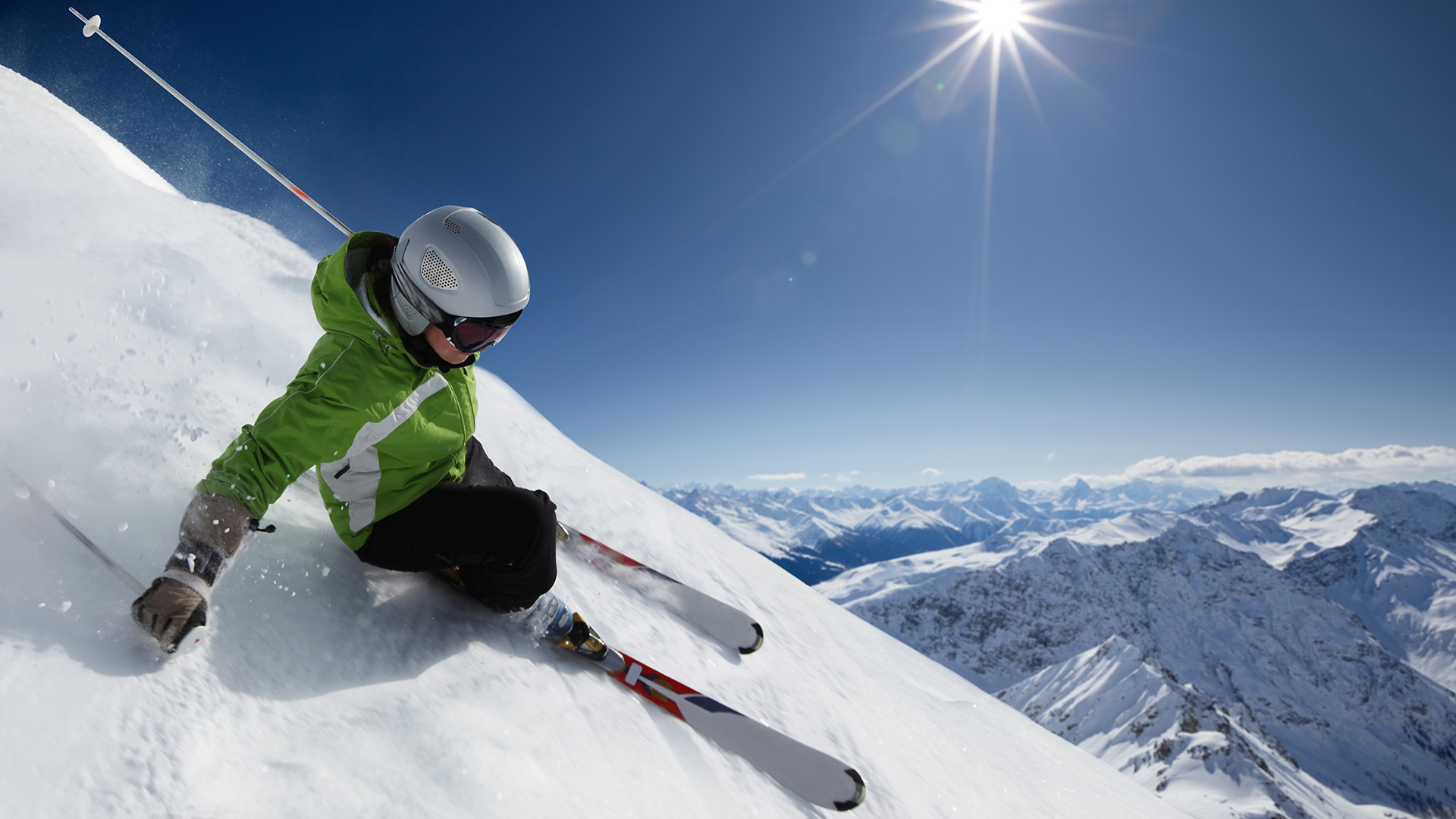 Sports   Skiing Ski Mountain Snow Winter Wallpaper 1920x1080