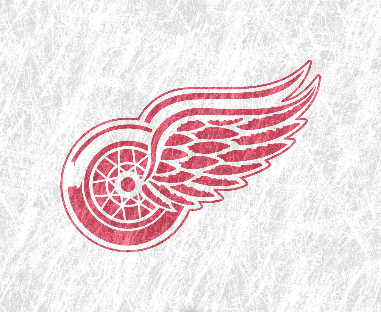 Detroit Red Wings Logo Wallpaper 1280x1050