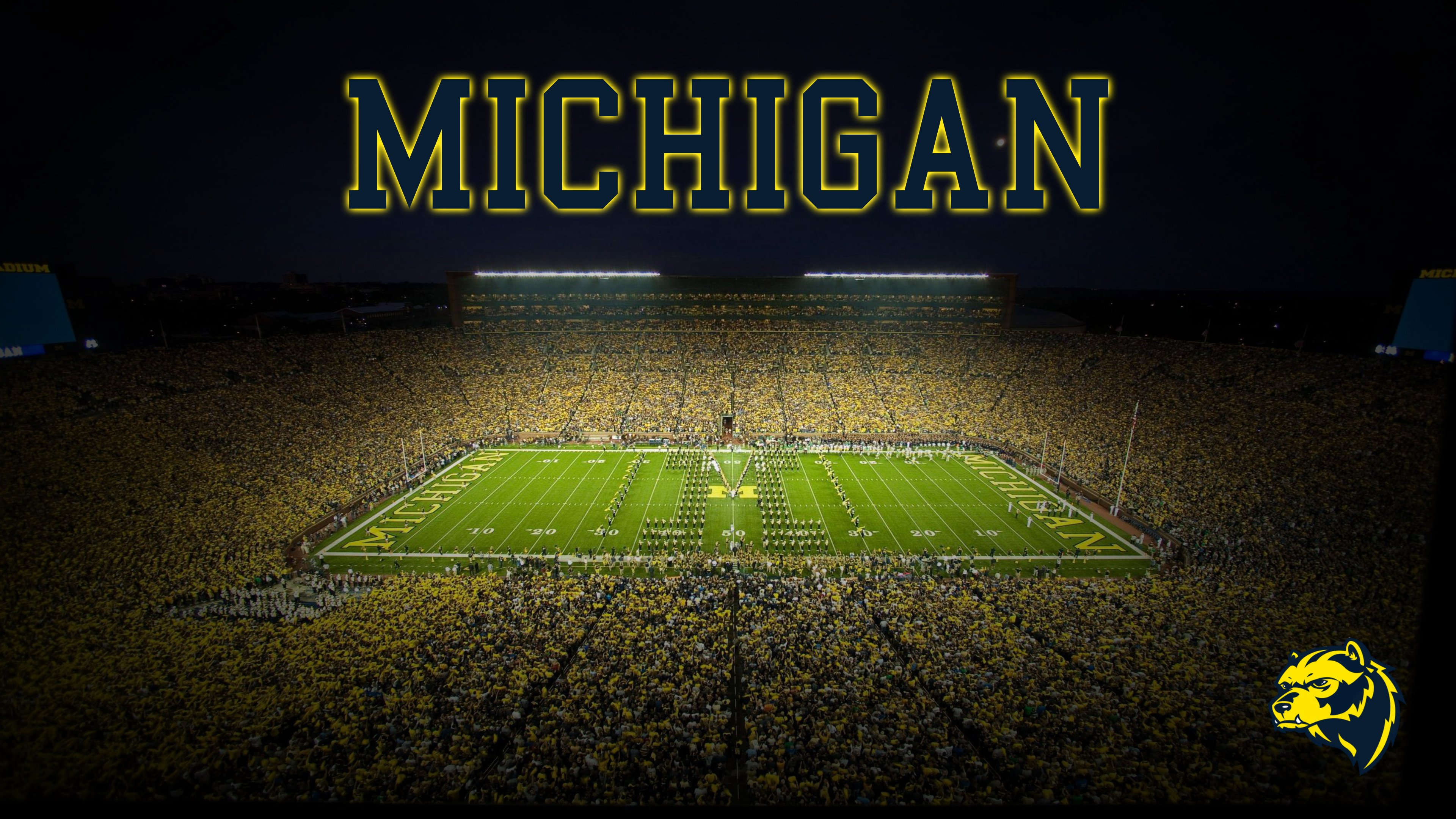 4k Michigan wallpaper I just drew up MichiganWolverines 3840x2160