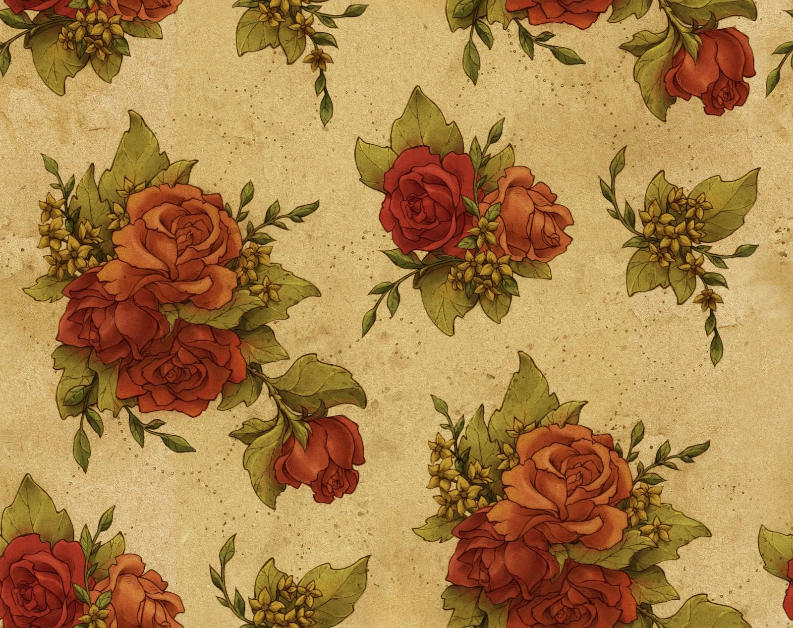 Free Download Vintage Floral Print Wallpaper 1600x1267 For Your