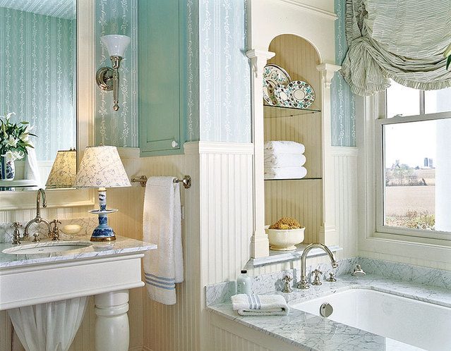 30 Bathroom Wallpaper Ideas Photo 26 639x498