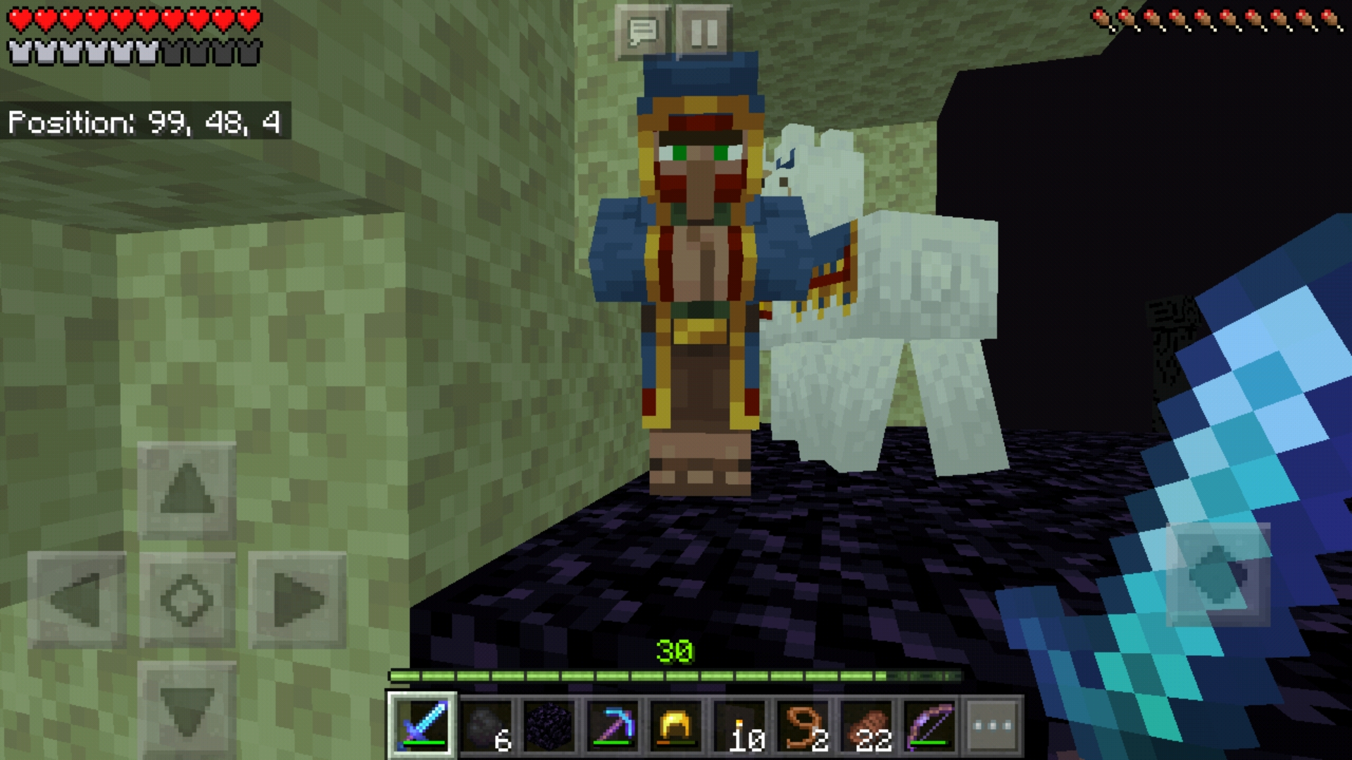 hey wanna buy some endstone for 5 emeralds Minecraft 1920x1080