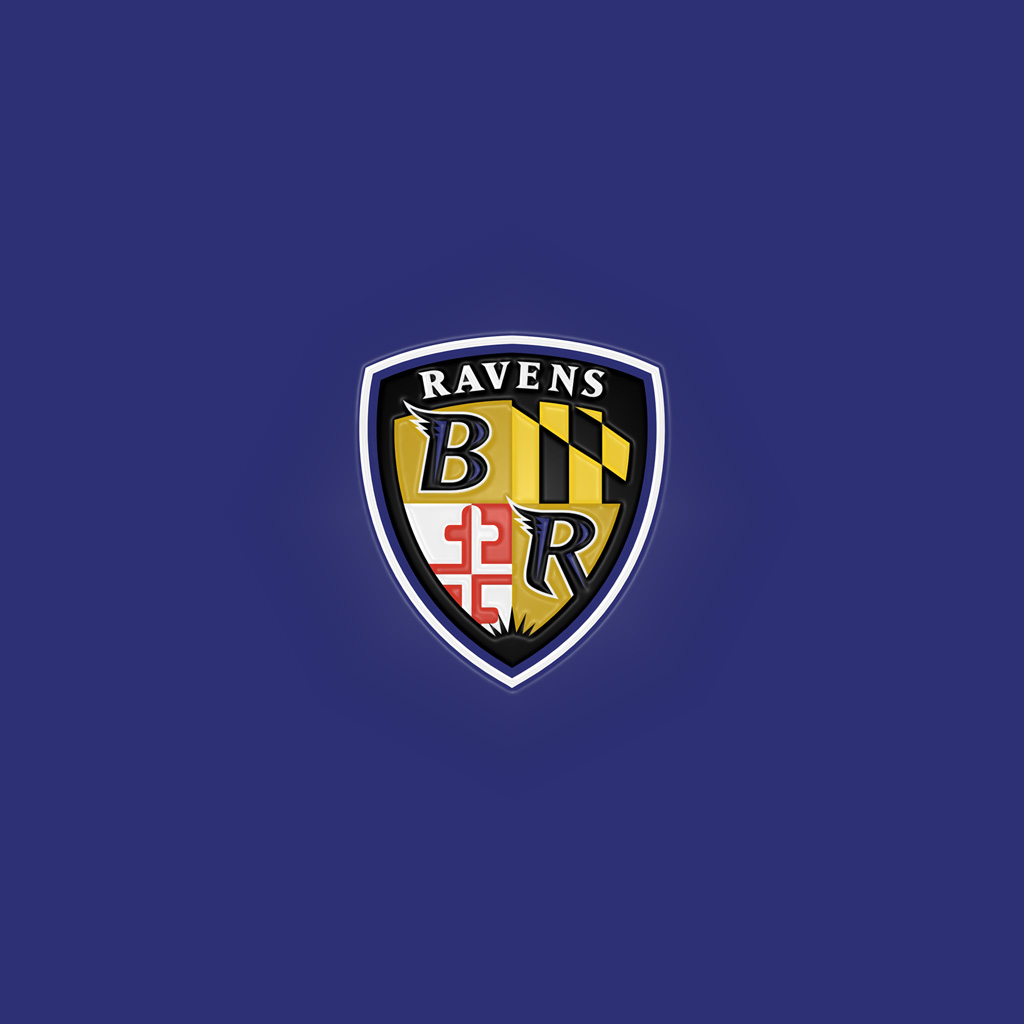 iPad Wallpapers with the Baltimore Ravens Team Logo Digital Citizen 1024x1024