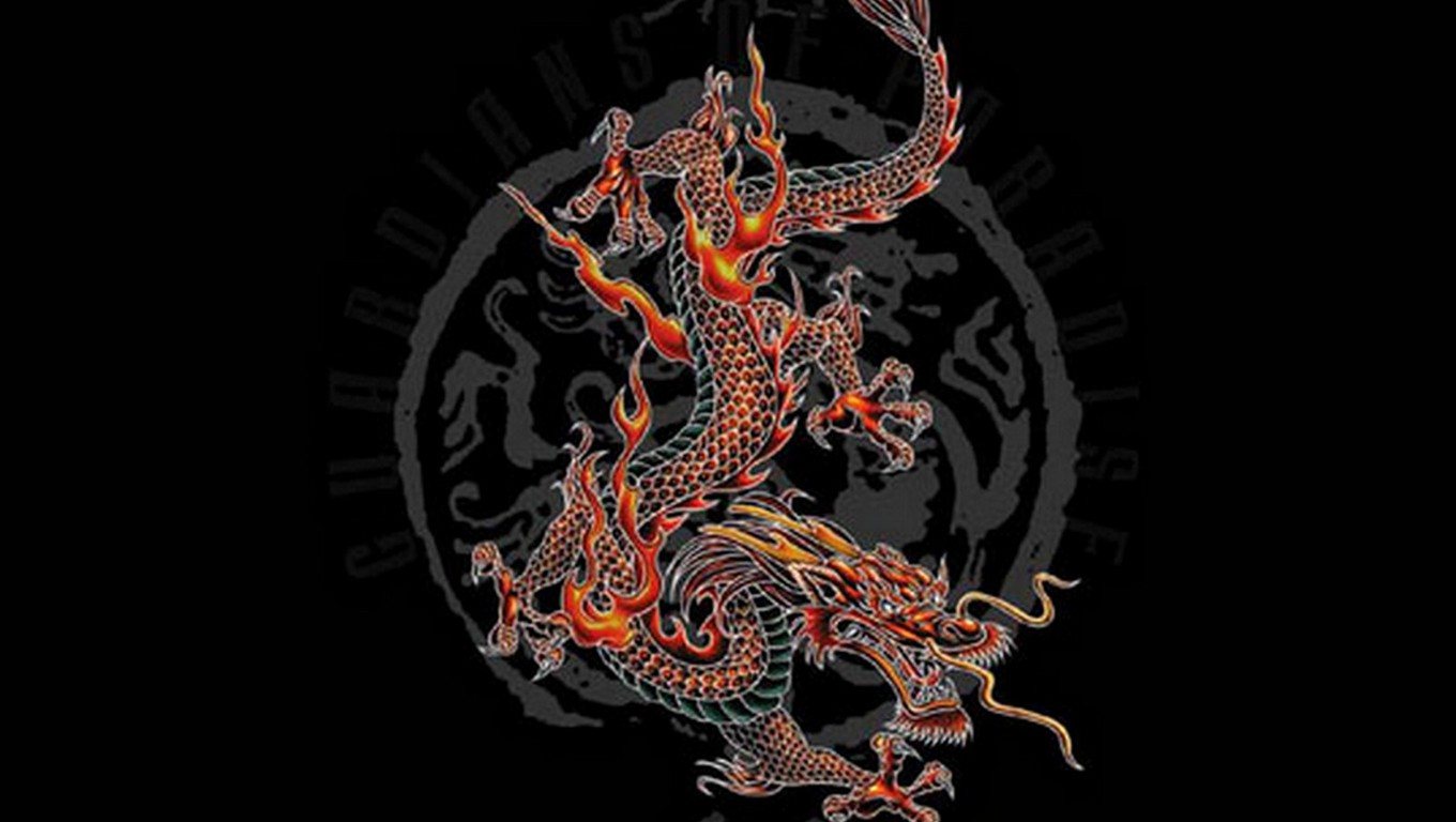 chinese dragon Computer Wallpapers Desktop Backgrounds 1360x768 1360x768