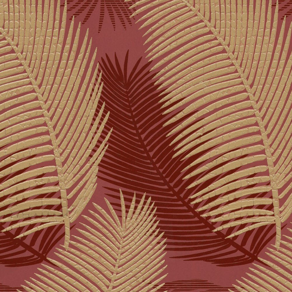 Royal Palm Leaf Pattern Floral Motif Glitter Textured Wallpaper 57001 1000x1000