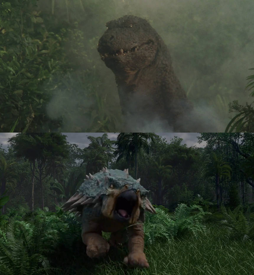 Bumpy vs Godzillasaurus by MnstrFrc 860x929