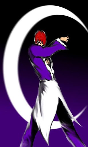 The KOF IORI YAGAMI Theme iconwallpaper a dress up home screen 307x512