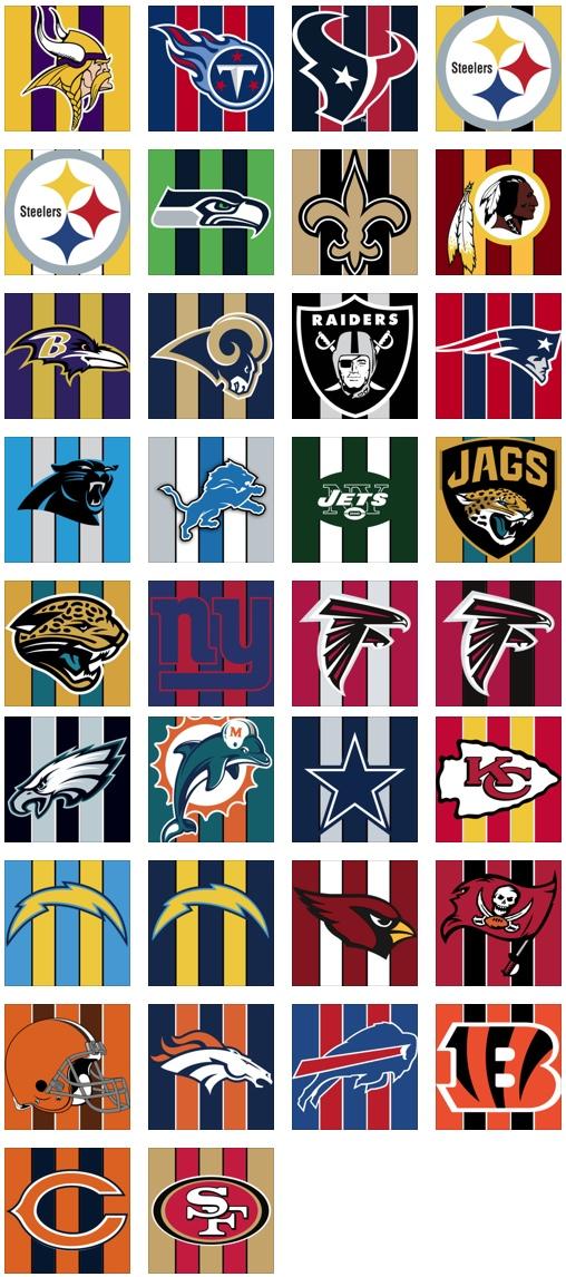 NFL Teams Thumbnails 508x1146